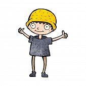 stock photo of attitude boy  - cartoon boy with positive attitude - JPG
