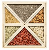 foto of flax seed  - square and triangles  - JPG