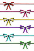 picture of rep  - collection of colorful ribbons and bows rep on an isolated white background - JPG