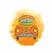 foto of beetle car  - cartoon beetle car - JPG