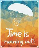 stock photo of parachute  - Clock on a parachute - JPG