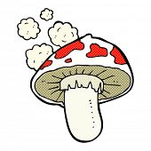 pic of toadstools  - retro comic book style cartoon toadstool - JPG
