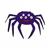 pic of halloween characters  - retro comic book style cartoon halloween spider - JPG
