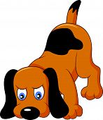 image of dog tracks  - Vector illustration of Cartoon dog sniffing isolated on white background - JPG