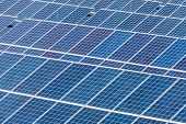 image of environmentally friendly  - panels a solar power plant - JPG
