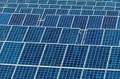 stock photo of environmentally friendly  - panels a solar power plant - JPG