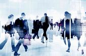 image of commutator  - Commuter Business People Cityscape Corporate Travel Concept - JPG