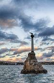 stock photo of sevastopol  - Monument to the wreck in Sevastopol - JPG