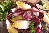 foto of chicory  - basket with chicory - JPG