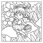 picture of faerie  - Coloring book for children  - JPG