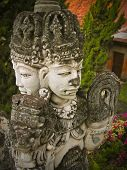 stock photo of hindu  - A weathered statue at a Hindu temple in Bali - JPG