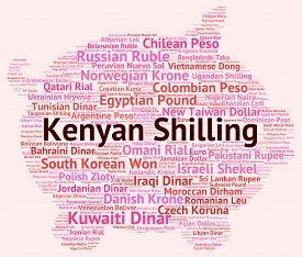 stock photo of shilling  - Kenyan Shilling Meaning Currency Exchange And Fx - JPG