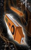 picture of mater  - Digital illustration of digital multi mater  in colour background - JPG