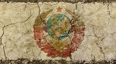 Постер, плакат: Old Grunge Faded Ussr Soviet Union Emblem