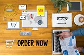 Order Now Add To Cart Online  Order Store Buy Shop  Online Payment Shopping Business And Modern Life poster
