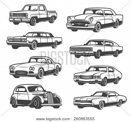Retro Cars And Vehicle Types