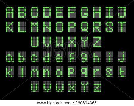 Green Led Digital English Uppercase
