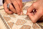 foto of shiraz  - Proces of making traditional Persian mosaic technics khatam - JPG
