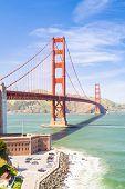 Golden Gate bridge in San Francisco California USA West Coast of Pacific Ocean poster
