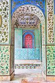 stock photo of tehran  - Beautyful mosaic walls of Golestan  palace - JPG