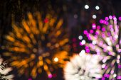 Colorful Firework. Amazing Fireworks With Bokeh From Drops On The Lens, Fireworks 2019, Fireworks Ba poster