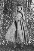 Little Girl In Fashionable Dress, Prom. Little Girl In Glamour Style poster