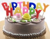 picture of happy birthday  - birthday cake - JPG
