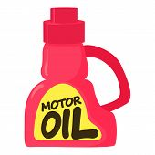 Motor Oil Icon. Cartoon Illustration Of Motor Oil Icon For Web poster