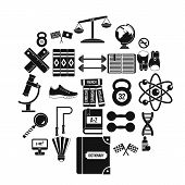 College Icons Set. Simple Set Of 25 College Vector Icons For Web Isolated On White Background poster