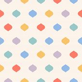 Cute Colorful Polka Dot Seamless Pattern. Vector Dotted Print Texture With Geometric Spots, Confetti poster