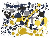 Graffiti Spray Stains Grunge Background Vector. Vintage Ink Splatter, Spray Blots, Dirty Spot Elemen poster