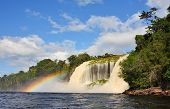 foto of canaima  - Waterfall at Canaima National Park - JPG