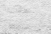 White And Grey Brick Wall Texture Background With Space For Text. White Bricks Wallpaper. Home Inter poster