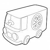 Disinfection Car Icon. Outline Illustration Of Disinfection Car Icon For Web poster