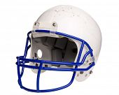 picture of football helmet  - white football helmet - JPG