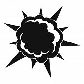 Powerful Explosion Icon. Simple Illustration Of Powerful Explosion Icon For Web poster