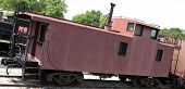 pic of caboose  - Old red caboose - JPG