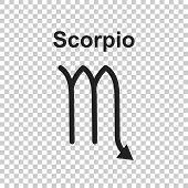Scorpio Zodiac Sign. Flat Astrology Vector Illustration On White poster