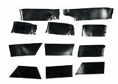 picture of gaffer tape  - Black electrical tape Isolated on white - JPG