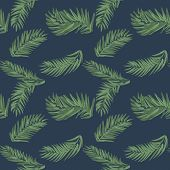 Palm Leaf Seamless Pattern Background. Beach Seamless Pattern Wallpaper Of Tropical Leaves Of Palm T poster