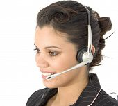 picture of rep  - Beautiful young Hispanic customer service rep - JPG