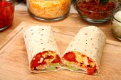 pic of chipotle  - Breakfast burrito in kitchen or restaurant - JPG