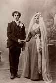 Vintage Family Photo Early 1900S Wedding