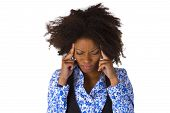 picture of pms  - African american woman feels sick  - JPG