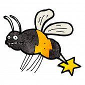 pic of wasp sting  - cartoon stinging wasp - JPG