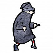picture of sneak  - cartoon sneaking thief - JPG