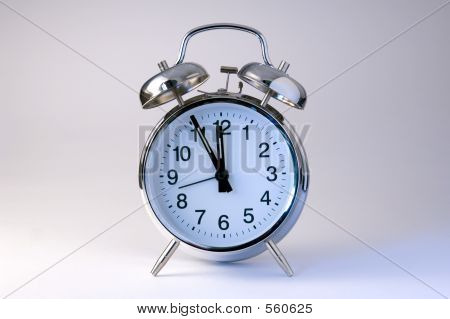 Picture or Photo of Alarm clock isolated