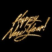 picture of happy new year 2013  - Golden Glittering Writing  - JPG