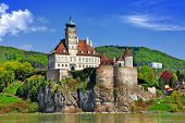stock photo of old boat  - Austria scenery - JPG