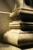 stock photo of pilaster  - A close up of a stonework pilaster on a classical building - JPG